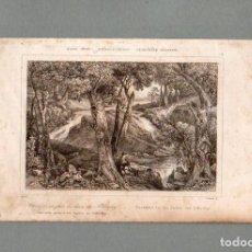 Arte: ESTADOS UNIDOS - CASCADA JUNTO A LOS BAÑOS DE SCHOOLEY - GRABADO MILBERT THIENON. Lote 90787110