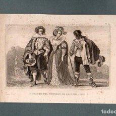 Arte: FRANCIA - TRAGES DEL REINADO DE LUIS XIII - GRABADO LALAISSE. Lote 90787515