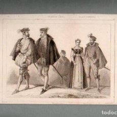Arte: FRANCIA - CORTESANOS - GRABADO VERNIER LEMAITRE. Lote 90825965