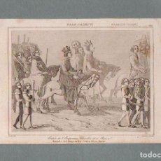 Arte: FRANCIA - ENTRADA DEL EMPERADOR CARLOS IV EN PARIS - GRABADO VERNIER LEMAITRE. Lote 90827025