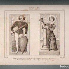 Arte: FRANCIA - NAIPES COMPUESTOS PARA EL REY CARLOS II POR J. GRINGONEUR - GRABADO VERNIER LEMAITRE. Lote 90827540