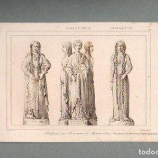 Arte: FRANCIA - ESCULTURAS EN MONTMORILLON - GRABADO VERNIER LEMAITRE. Lote 90829590