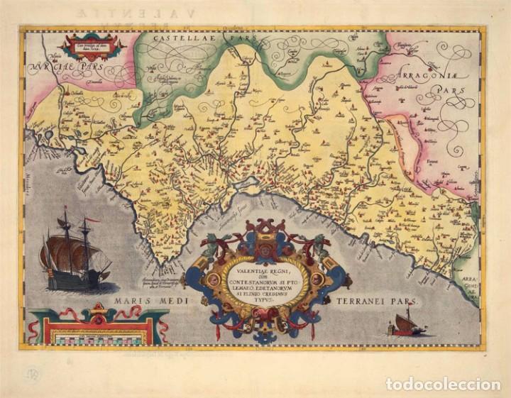 MAPA FACSIMIL: PRIMER MAPA DEL REINO DE VALENCIA IMPRESO (Arte - Grabados - Antiguos hasta el siglo XVIII)