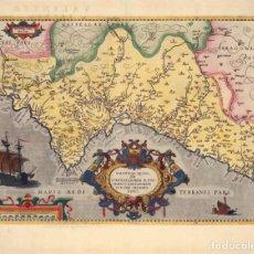 Arte: MAPA FACSIMIL: PRIMER MAPA DEL REINO DE VALENCIA IMPRESO. Lote 195397013