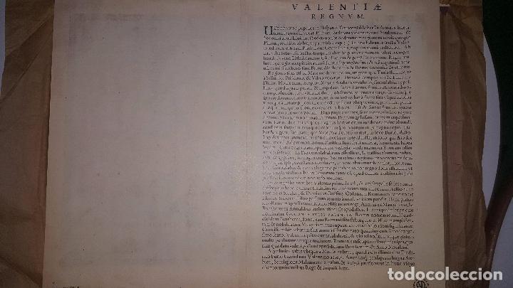 Arte: MAPA FACSIMIL: PRIMER MAPA DEL REINO DE VALENCIA IMPRESO - Foto 4 - 257323535