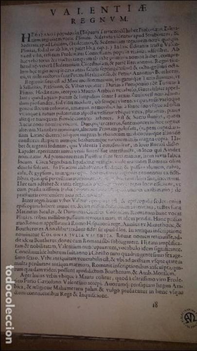 Arte: MAPA FACSIMIL: PRIMER MAPA DEL REINO DE VALENCIA IMPRESO - Foto 5 - 257323535