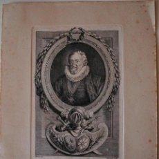 Arte: GRABADO ANTIGUO DE HERNI IV, EL GRANDE. Lote 43095604