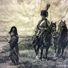 Arte: HÚSARES EXPLORANDO. GRABADO SOBRE PAPEL. ERNEST MESSONIER. BOISSOD VALADON. FRANCIA 1891. Lote 91111335