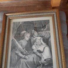 Arte: GRABADO DE CAPERUCITA Y LA ABUELITA. Lote 91312323