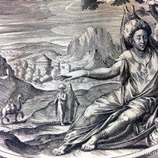 Arte: LOS 4 ELEMENTOS -LOS 5 CONTINENTES. 4 GRABADOS. CORNELIS VAN DALEN I(?). HOLANDA.CIRCA 1640. Lote 91336730
