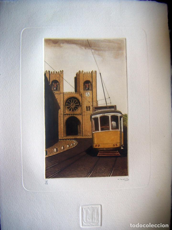 GRABADO FIRMADO M.CASTILLO (Arte - Grabados - Contemporáneos siglo XX)