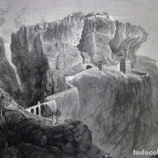 Arte: GRABADO AL ACERO 1860, G. P. BAGETTI, COMBATE EN MADONA DELLA CORONA (1797). NAPOLEÓN BONAPARTE. Lote 91775230