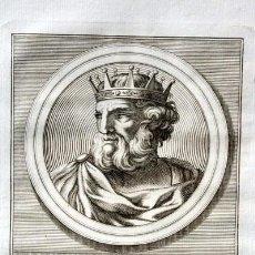 Arte: 1788 GRABADO - ALONSO II - REY DE LEON - 200X135MM. Lote 91790895