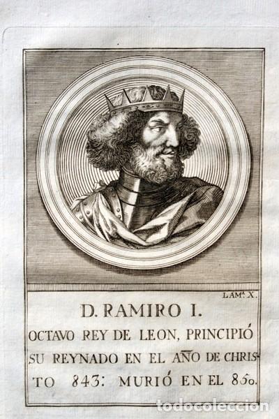 1788 GRABADO - RAMIRO I - REY DE LEON - 200X135MM (Arte - Grabados - Antiguos hasta el siglo XVIII)