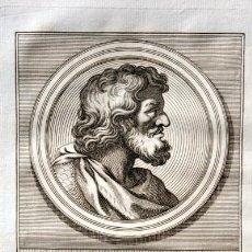 Arte: 1788 GRABADO - FRUELA II - REY DE LEON - 200X135MM. Lote 91795450
