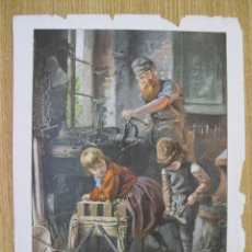 Arte: EL HERRERO Y LOS NIÑOS, CIRCA 1900.. Lote 91799840