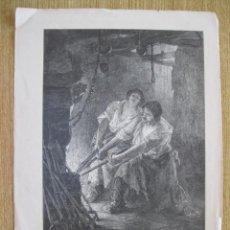 Arte: DOS HERREROS TRABAJANDO, 1902. Lote 91800705