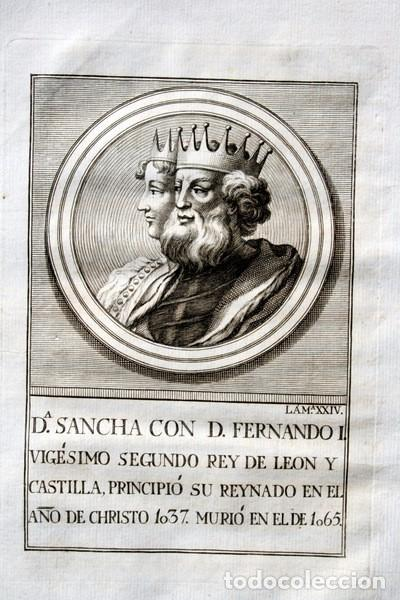 1788 GRABADO - Dª SANCHA - FERNANDO I - REY DE LEON Y CASTILLA - 200X135MM (Arte - Grabados - Antiguos hasta el siglo XVIII)