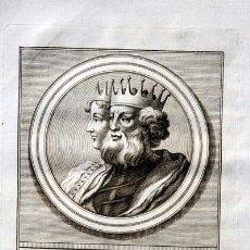 Arte: 1788 GRABADO - Dª SANCHA - FERNANDO I - REY DE LEON Y CASTILLA - 200X135MM. Lote 91803400