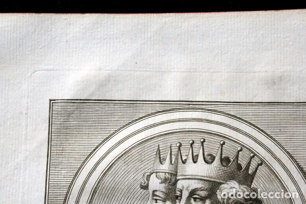 Arte: 1788 GRABADO - Dª SANCHA - FERNANDO I - REY DE LEON Y CASTILLA - 200x135mm - Foto 2 - 91803400
