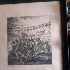 Arte: GRABADO TAURINO DE ANTONIO CASERO DE 1942. Lote 92118410