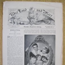 Arte: PORTADA PERIÓDICO ALEMÁN POR TIERRA Y MAR, 1902.. Lote 92828890