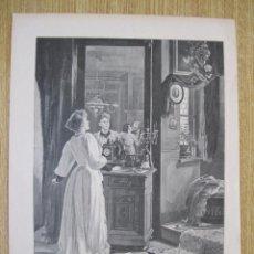 Arte: EL ESPEJO Y EL DESCUBRIMIENTO DEL INFIEL, 1902. Lote 92829350