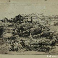 Arte: SIMO BUSOM GRAU (1927) GRABADO PAISAJE CAMPO FIRMADO Y FECHADO 1952. Lote 93088115