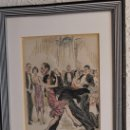 Arte: GRABADO COLOREADO - PAREJA BAILANDO - BAILE - C. L . STAMPA - 1928 - ART DÉCO. Lote 93179385
