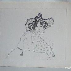 Arte: GRABADO JOVEN APOLLADA MANOS, COJIN. Lote 93661935