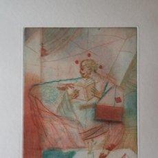 Arte: MIGUEL CONDÉ: AGUAFUERTE DE LA BALTRUSAITIS-SUITE, 1984, FIRMADO Y JUSTIFICADO A LÁPIZ. Lote 93664465
