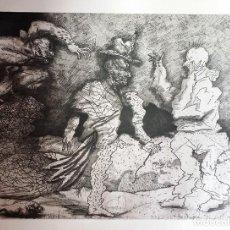Arte: MIGUEL CONDÉ: AGUAFUERTE DE LA SUITE GUGGENHEIM, 1977, FIRMADO Y JUSTIFICADO A LÁPIZ. Lote 93667525