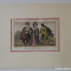 Arte: COSTUMES SOUS LE REGNE DE LOUIS XIII (1620). Lote 93743935