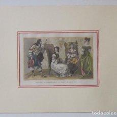 Arte: COSTUMES AU COMMENCEMENT DU REGNE DE LOUIS XIV (1650). Lote 93744895