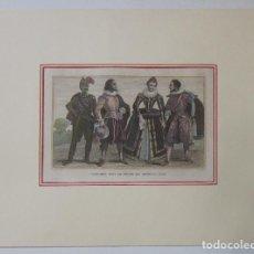 Arte: COSTUMES SOUS LE REGNE DE HENRI IV (1590). Lote 93745085