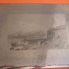 Arte: PLANCHA GRABADO ACERO DE LA MEDINA DE TANGER, MARRUECOS, DE LOS HERMANOS ROUARGUE MITAD SIGLO XIX . Lote 93979590