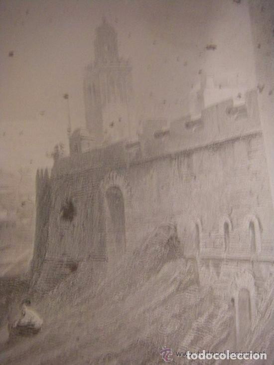 Arte: Plancha grabado acero de la medina de Tanger, Marruecos, de los hermanos Rouargue mitad siglo XIX - Foto 4 - 93979590