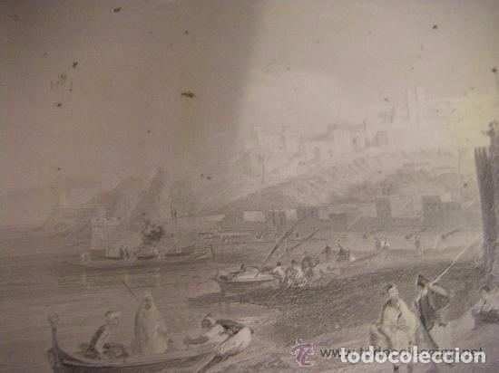 Arte: Plancha grabado acero de la medina de Tanger, Marruecos, de los hermanos Rouargue mitad siglo XIX - Foto 5 - 93979590