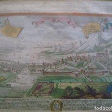 Arte: LIBRERIA GHOTICA. GRABADO DE GRAN BELLEZA ILUMINADO A MANO DEL SIGLO XVIII. MEDIDAS MARCO 48 X 36 CM. Lote 94114955