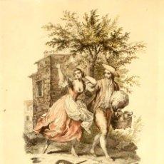 Arte: GRABADO ANTIGUO DE FRANÇOIS BOUCHER (GRAVÉ PAR F. BARTOLOZZI) AÑO 1793. Lote 94299298