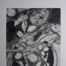 Josep Guinovart (Barcelona, 1927-2007) grabado 1975 de 32x24 en papel 45x36cm firmado lápiz y /245ej