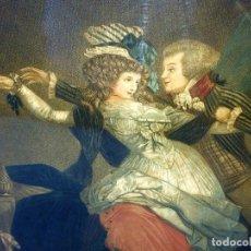Arte: LA ROSE MAL DÉFENDUE. GRABADO A COLOR. POR PHILIBERT LOUIS DEBUCOURT. FRANCIA. 1791. Lote 94802487
