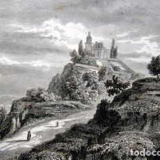 Arte: 1863 - GRABADO - TEOCALLI DE CHOLULA - 178X141MM - MEXICO. Lote 94874055