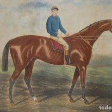 Arte: MAGNÍFICO GRABADO ¨GEORGE REES, 15 DE NOVIEMBRE DE 1881¨, CABALLO CARRERAS FOXHALL.. Lote 95000051
