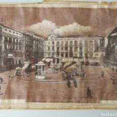 Arte: ANTIGUO GRABADO AL COBRE MÁLAGA PLAZA DE LA CONSTITUCIÓN 1920. Lote 95042714