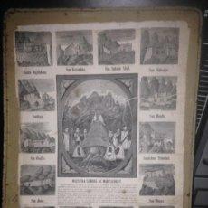 Arte: ANTIGUO GRABADO NUESTRA SRA DE MONSERRAT SIGLO XIX AÑO 1876(CATALUÑA,BARCELONA). Lote 95136311