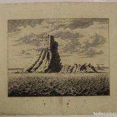 Arte: VISTA DEL TEIDE (TENERIFE, ESPAÑA), 1686. PIETER VAN DER AA. Lote 95276591
