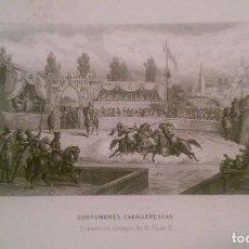 Arte: COSTUMBRES CABALLERESCAS. TORNEO EN TIEMPOS DE JUAN II. Lote 95364843