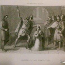 Arte: MARTIRIO DE SAN HERMENEGILDO. HISTORIA GENERAL DE ESPAÑA.. Lote 95365079