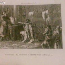 Arte: EL CID RECIBE EL JURAMENTO DE ALFONSO VI EN SANTA GADEA. HISTORIA GENERAL DE ESPAÑA.. Lote 95365279